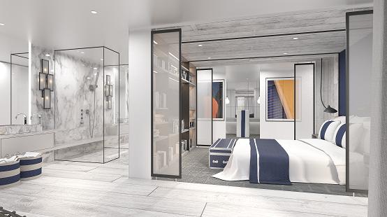 Celebrity Apex Penthouse Suite bedroom