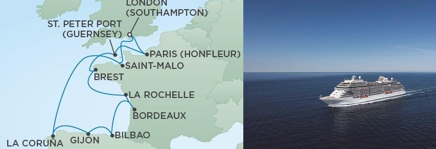 Regent Seven Seas Explorer map of itinerary