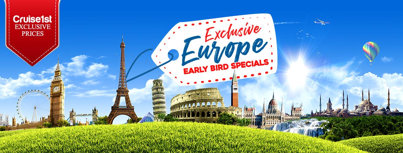europe early bird cruise deals