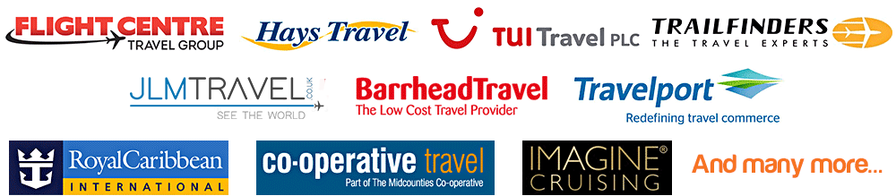 Traveltek Clients: Flight Centre, Virgin Holidays, Hays Travel, TUI, Liberty Travel, Barrhead Travel, Royal Caribbean, Mid-Counties Co-op, Trailfinders, Travelport, Imagine Cruising. And many more