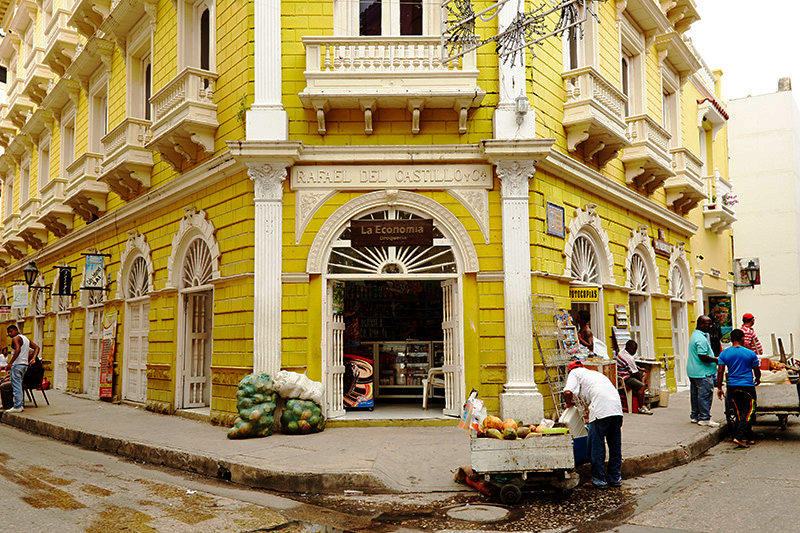 Cidade velha em Cartagena, Colômbia