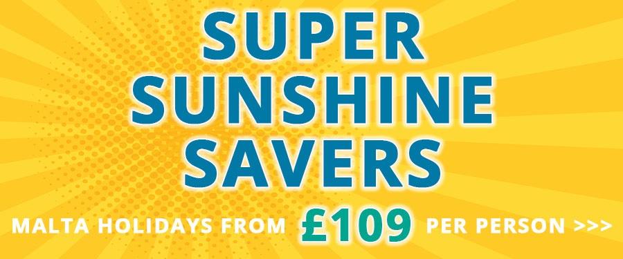 Super Sunshine Saver holiday deals to Malta