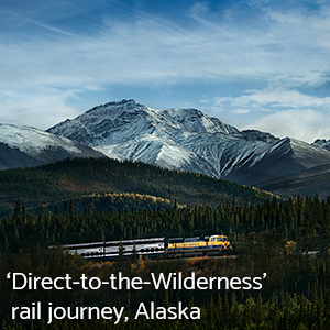 Direct to Wilderness rail journey, Alaska