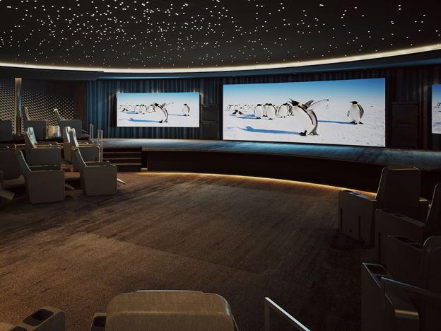 Teatro de lujo a bordo