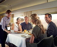Dining in the Exclusive Platinum Club Carriage