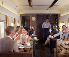 Make new friends in the Lounge & Dining Carriage