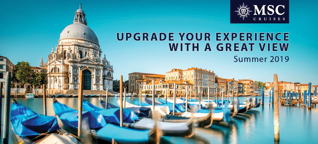 MSC Cruises upgrade your experience with a great view