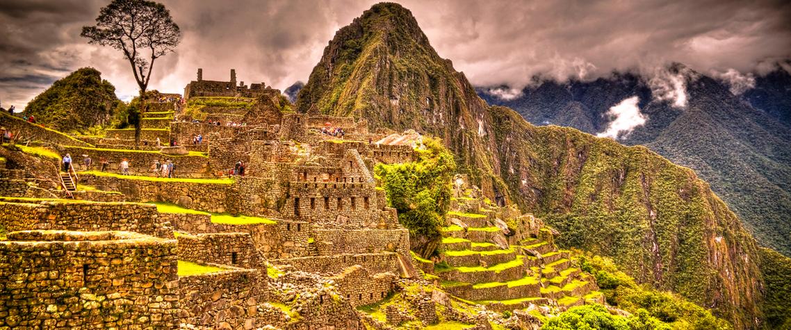 Panoramic view to Machu Picchu