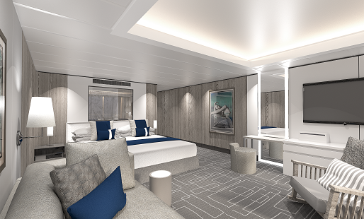 Celebrity Edge suite bedroom