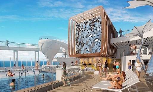 Celebrity Edge pool area render