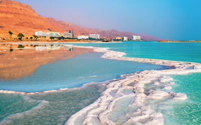 Arrive at the Dead Sea