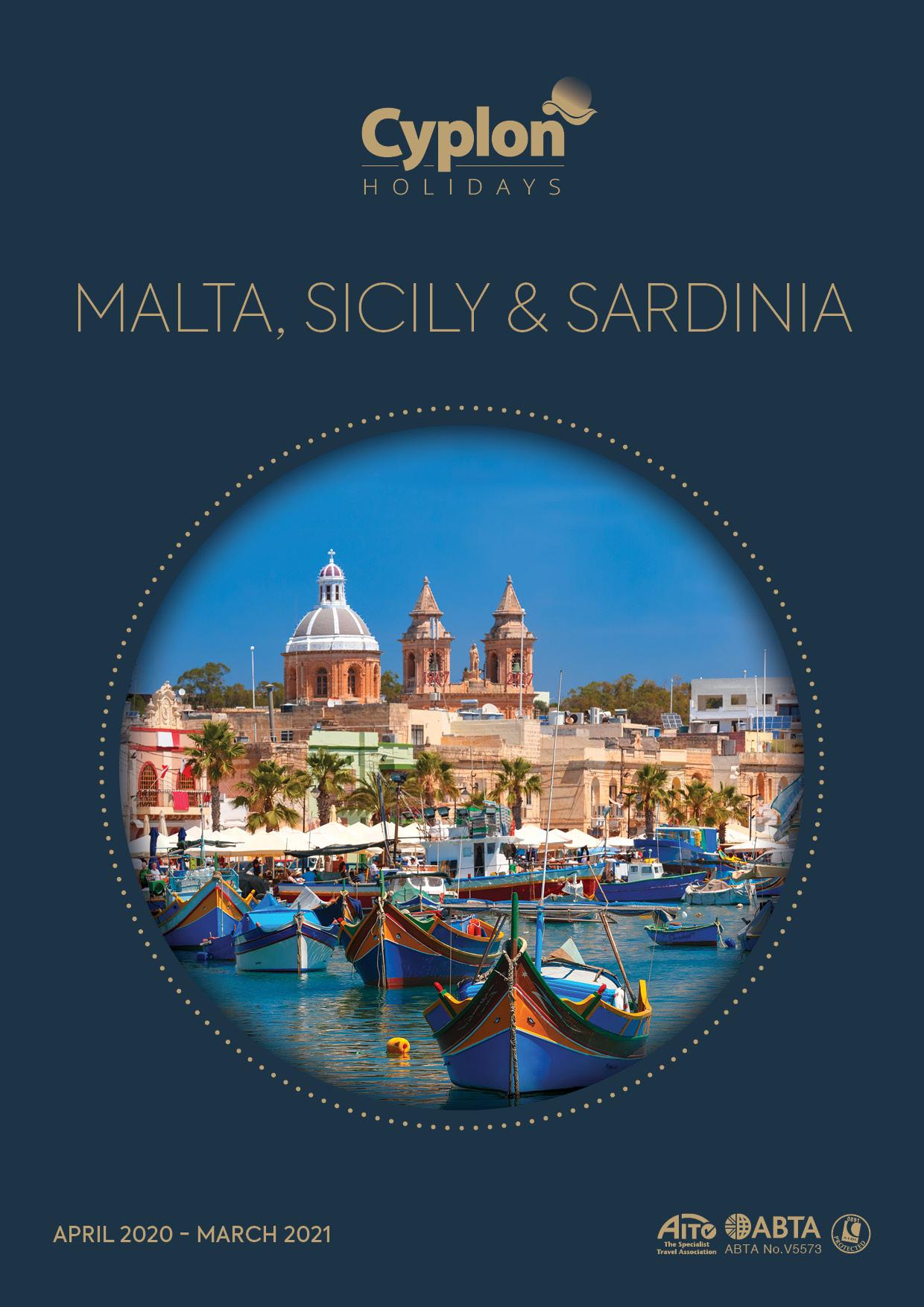 Malta, Sicily & Sardinia -