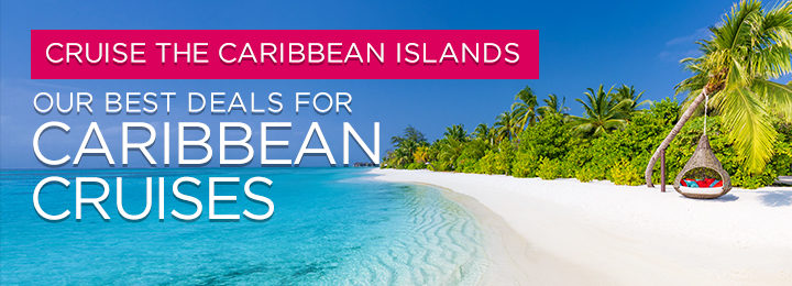 beach and palms lining clear blue beach