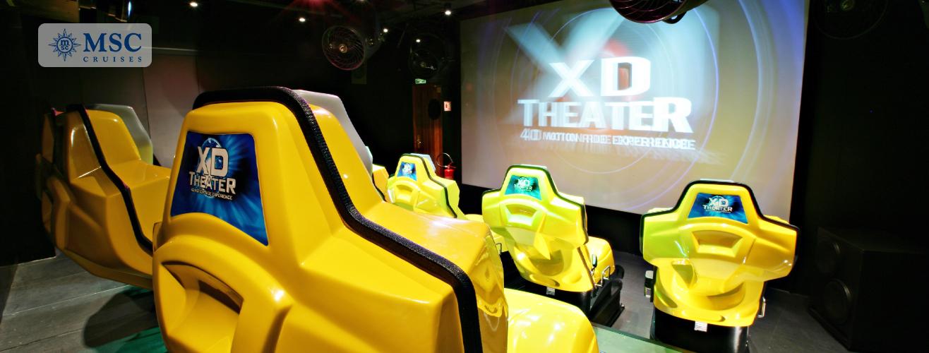 4D theatre in MSC Fantasia