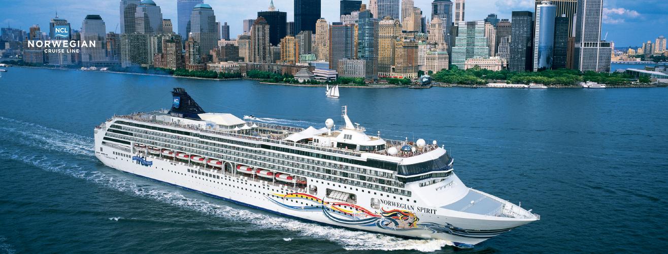exterior view of Norwegian Spirit cruise ship