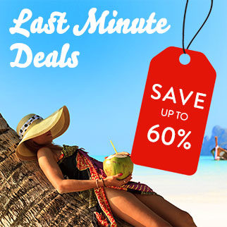 Save up to 60% with our last minute deals!