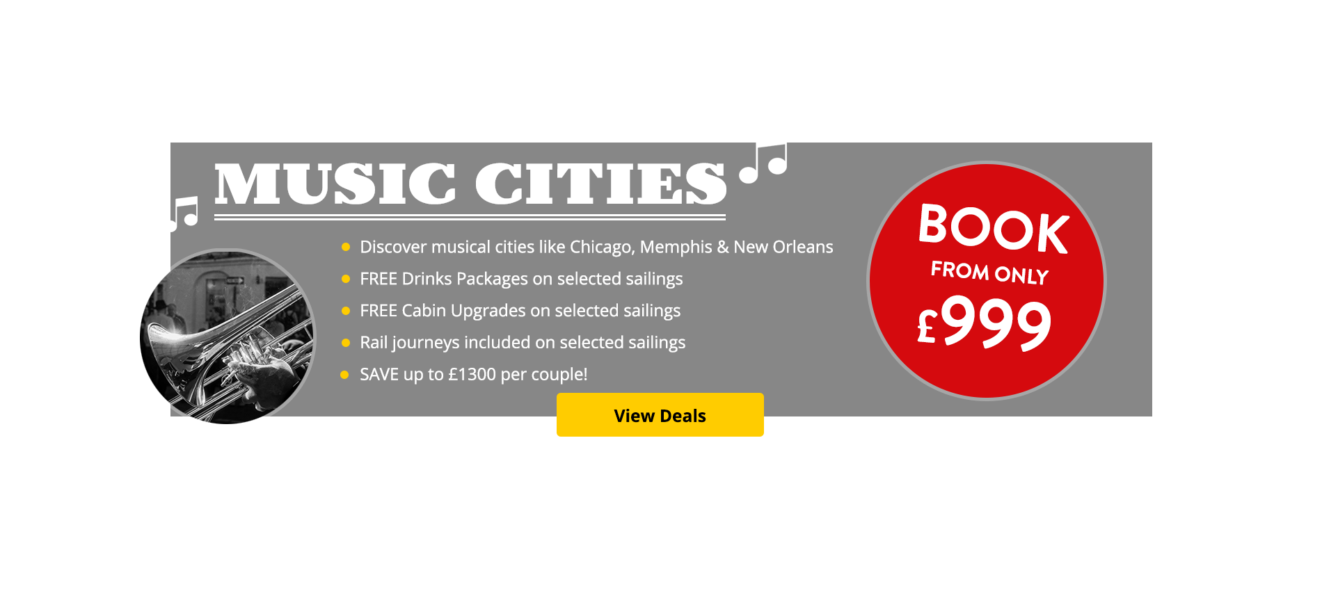 Don't miss our amazing Music Cities of North America Packages!