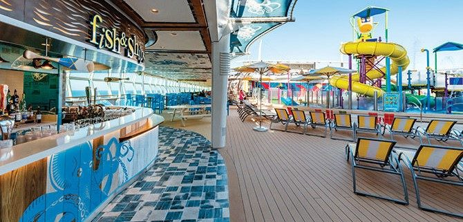 Pool deck of a cruise ship