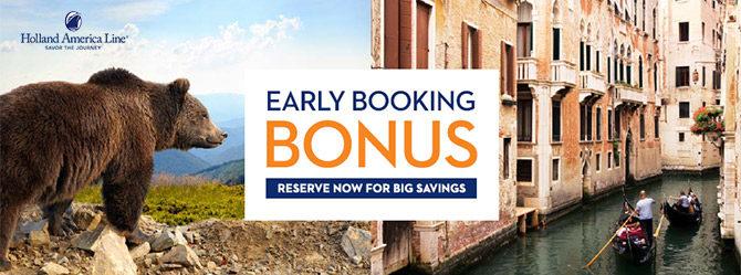 Early Booking Bonus