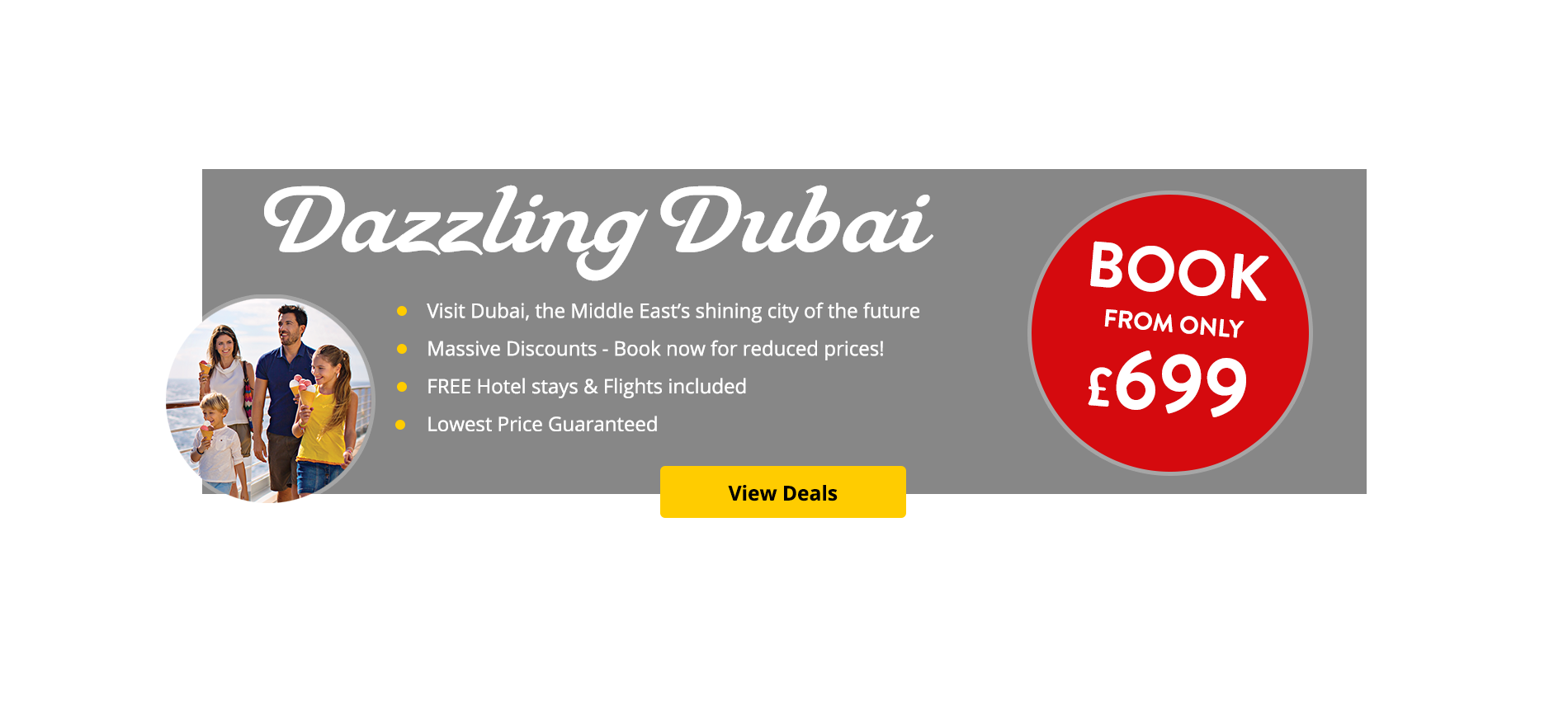 Visit Dubai, the Middle East's shining city of the future from only £699.