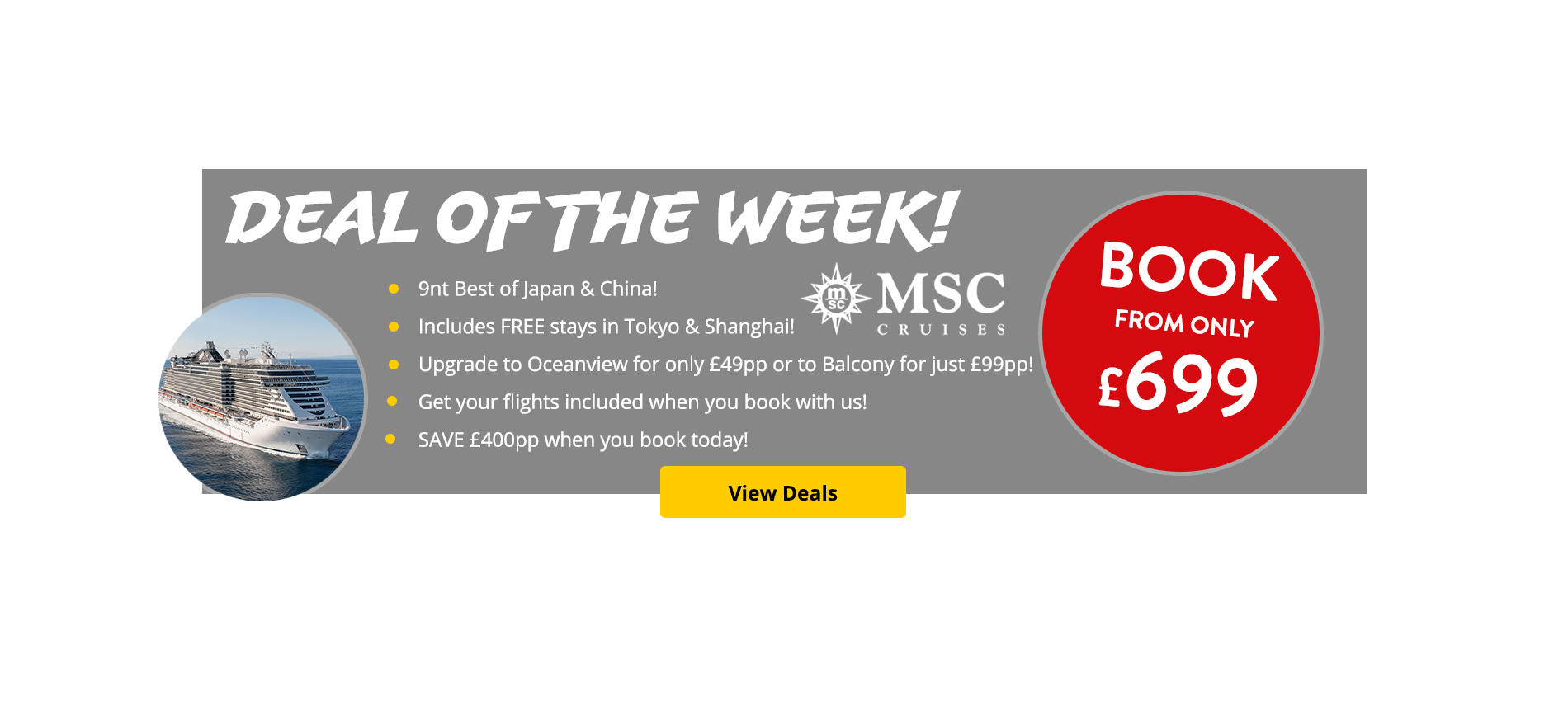 Deal of the week! Best of Japan & China with MSC.