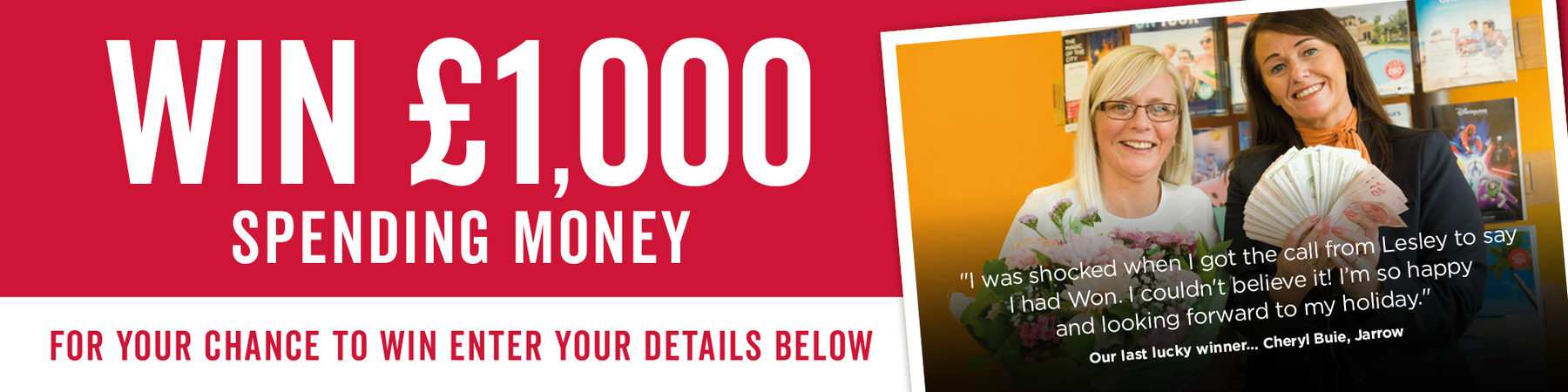 Win £1000 Spending Money