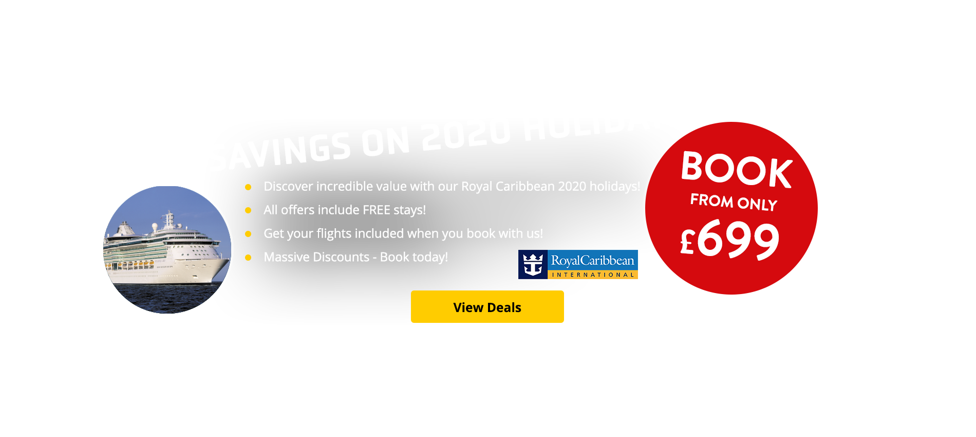 Discover incredible value with our Royal Caribbean 2020 holidays! Get your flights & FREE stays included when you book with us!