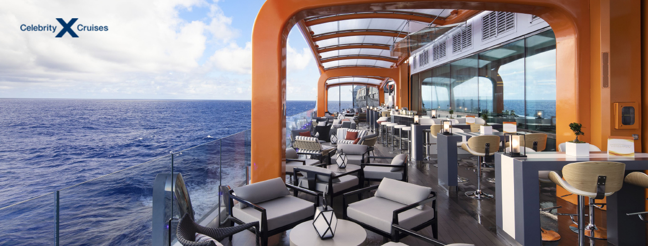 magic carpet moving platform on Celebrity Apex cruise ship from Celebrity Cruises