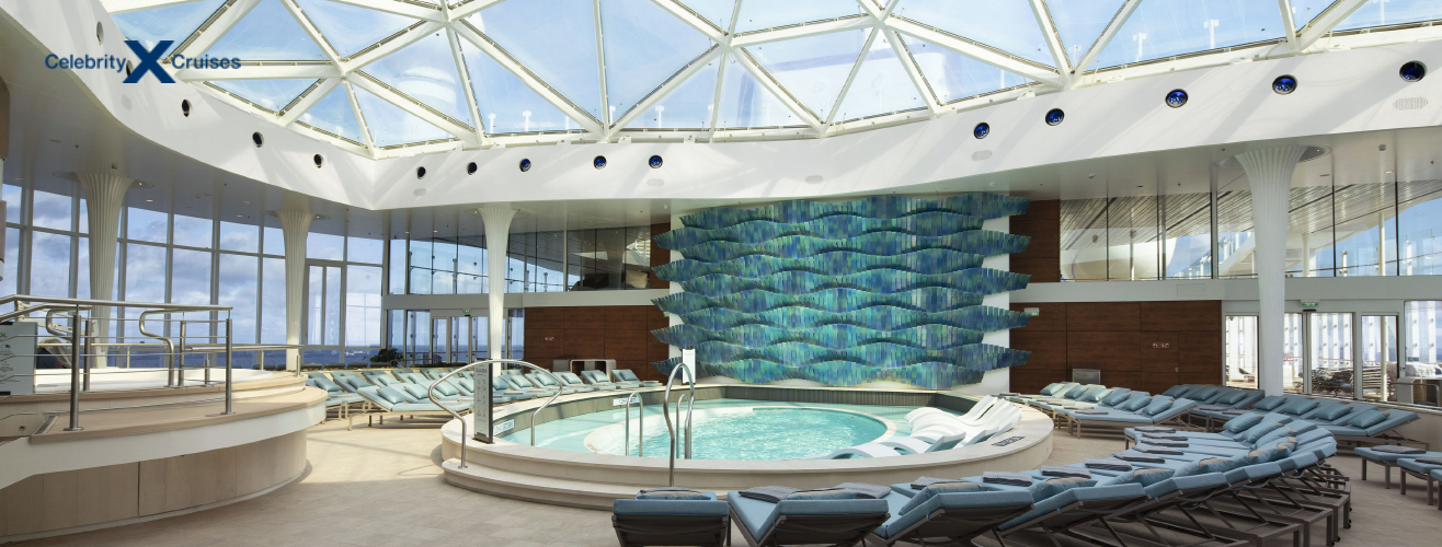 solarium in Celebrity Apex cruise ship from Celebrity Cruises