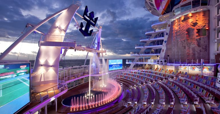 Aqua theater allure of the seas