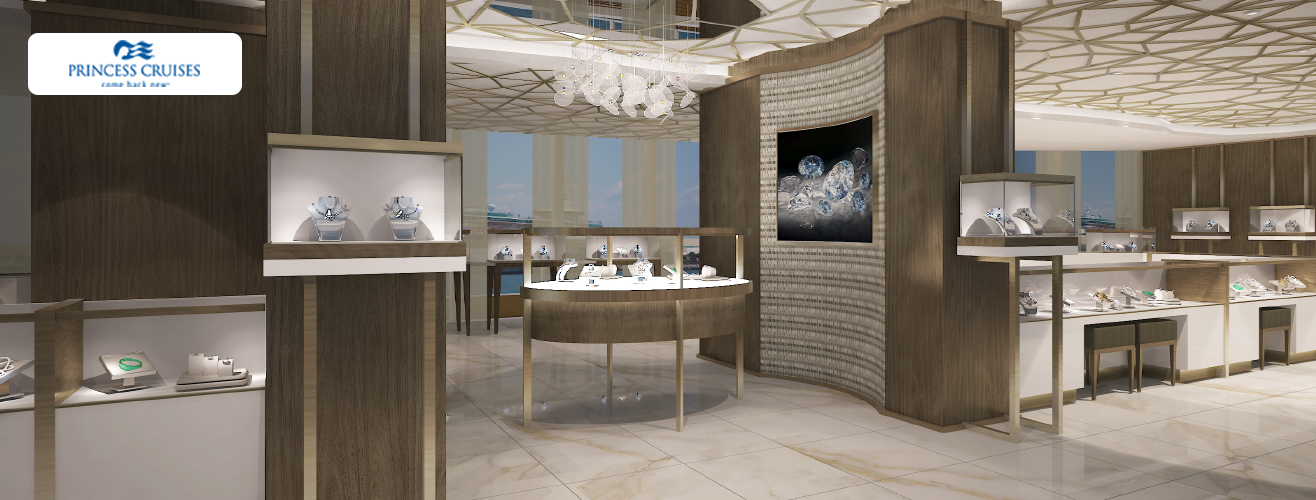 jewellery store in Sky Princess cruise ship