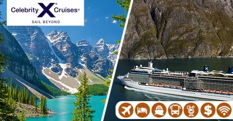HIGHLIGHTS OF THE ROCKIES AND ALL INCLUSIVE ALASKA CRUISE
