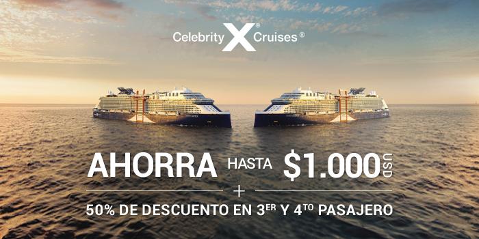 Ofertas en cruceros Celebrity Cruises