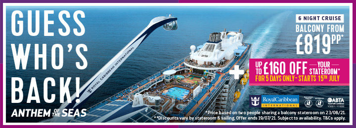 iFly sky diving experience onboard a cruise ship